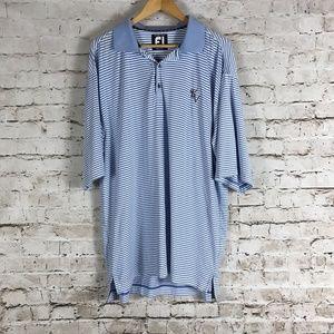 FootJoy Men's Golf Polo Shirt Size XL Blue Striped